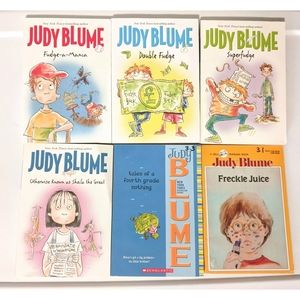 6 Judy Blume softcover kids chapter books
